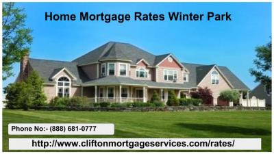 Get the best Home Mortgage Rates in Winter Park