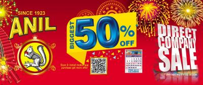 We offer Diwali Crackers Online with 50% Discount