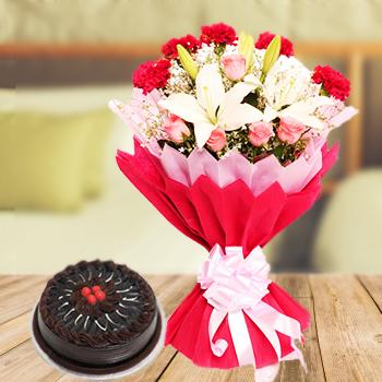 Same Day Delivery of Fresh Flowers and Cakes