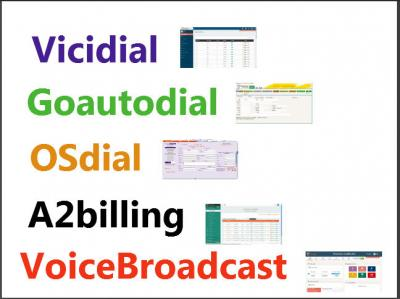 Support for Vicidial, GoAutodial, A2billing, CRM