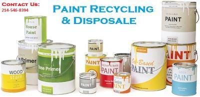 dallas paint disposal: paint recycling & disposal