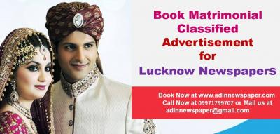 Lucknow Newspaper Matrimonial Classified Advertise