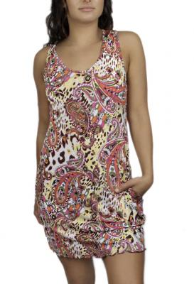 Stylish Animal Paisley Sporty Tank Dress | ColadaC