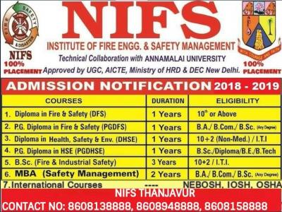 NIFS FIRE AND SAFETY COURSE INSTITUTION THANJAVUR