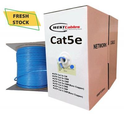 Bulk Cat5e CMP Plenum UTP 1000FT Ethernet Cable