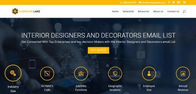 Interior Designers and Decorators email List