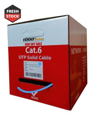 1000ft Cat6 Plenum CMP Solid UTP Ethernet Cable